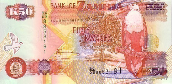 ZAMBIE   50 Kwacha   Emission De 2003     ***** BILLET  NEUF ***** - Zambia