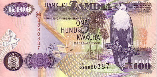 ZAMBIE   100 Kwacha     Emission De 2003     ****** BILLET  NEUF ****** - Zambia