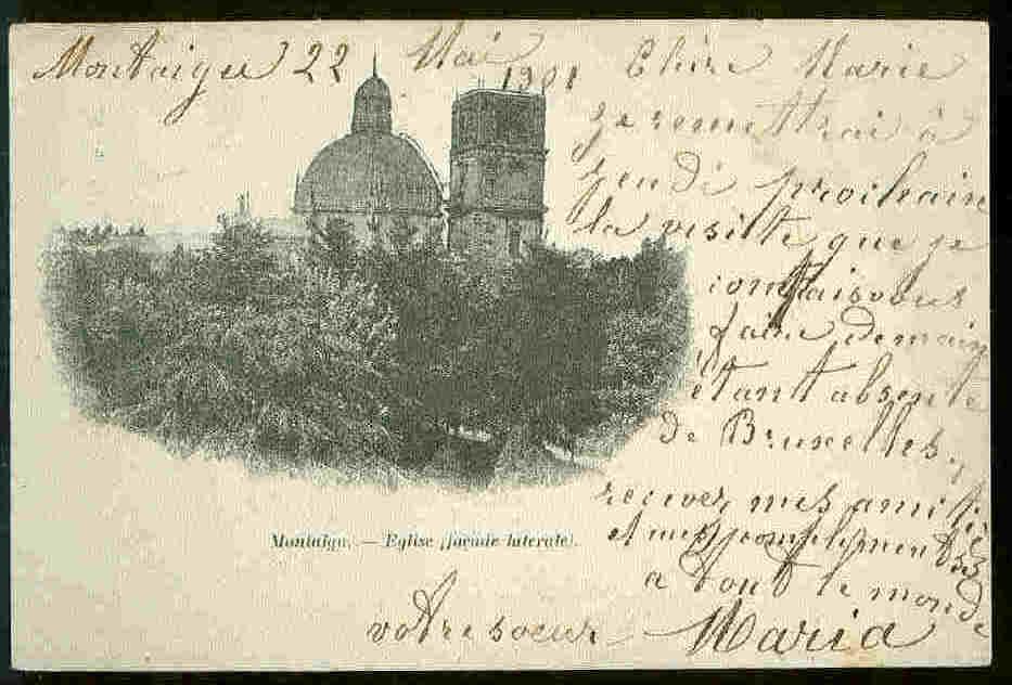 CPA  MONTAIGU   Eglise  1901 - Scherpenheuvel-Zichem