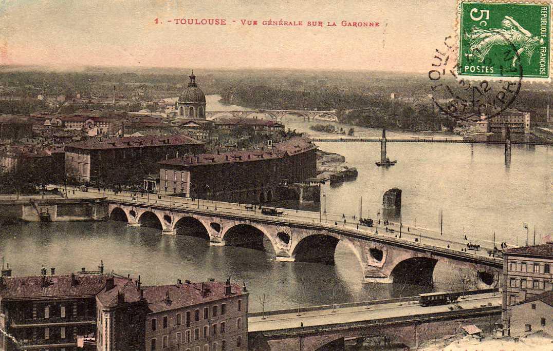 31 TOULOUSE Vue Générale Sur La Garonne, Ed Labouche 1, 1912 - Toulouse
