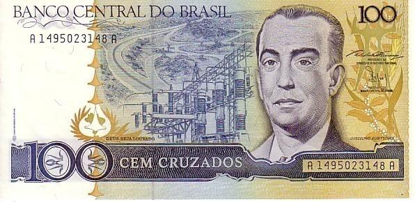 BRESIL   100 Cruzados  Non Daté (1987)   Pick 211b  Signature 24    **** BILLET  NEUF ***** - Brésil