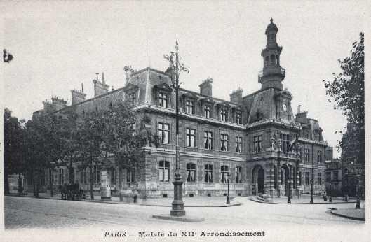 PARIS  MAIRIE DU XII Arrondissement B.F. - Arrondissement: 12