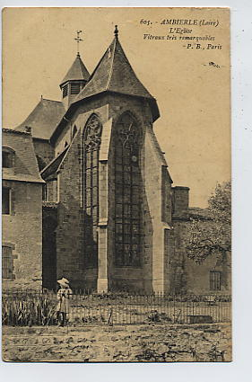 AMBIERLE : L'église - Vitraux Très Remarquables - France