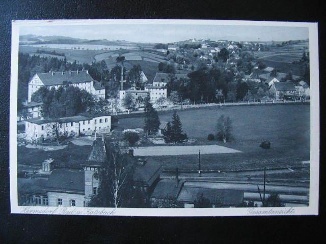 HERMSDORF + KATZBACH  >>   AK  1926 *  FX1459 - Schlesien