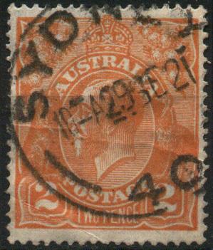 -- Australie YT N°  25 Roi George V Oblitéré/used ° - Usati