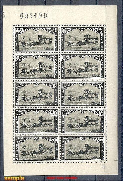 BELGIUM 1935, STAGECOACH SET IN MINI SHEETS F/VF MNH! - Cavalli