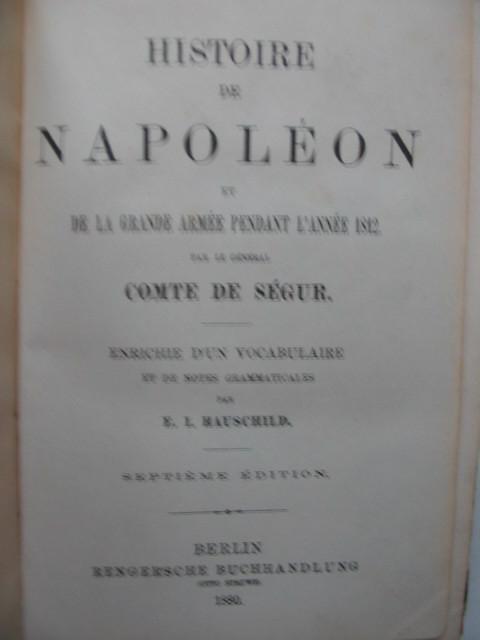 HISTOIRE_DE_NAPOLEON   #    HAUSCHILD _ : :_ BERLIN   1880 * * * - Geschichte