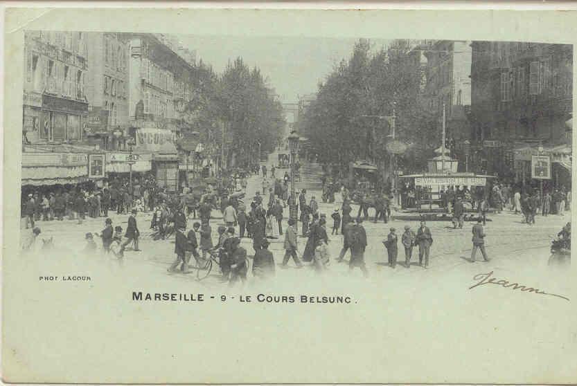1106 Marseille Le Cours Belsunc N° 9 Lacour. - Marseille