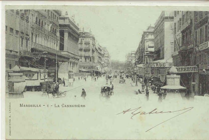 1109 Marseille La Cannebière 6 Lacour Attelage - Canebière, Centre Ville