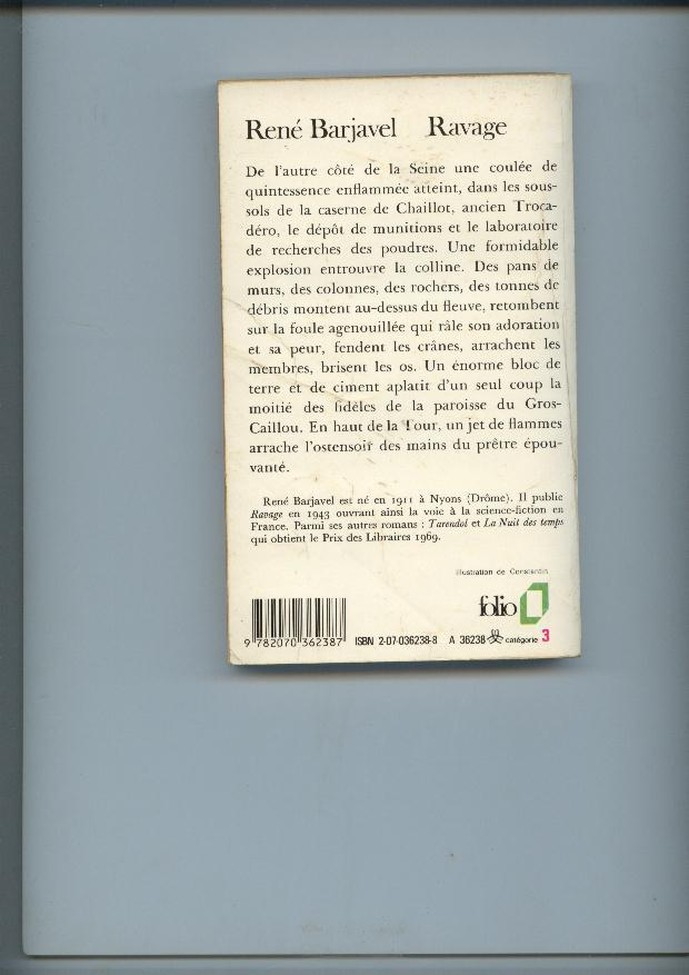 Ravage De René Barjavel - Folio SF