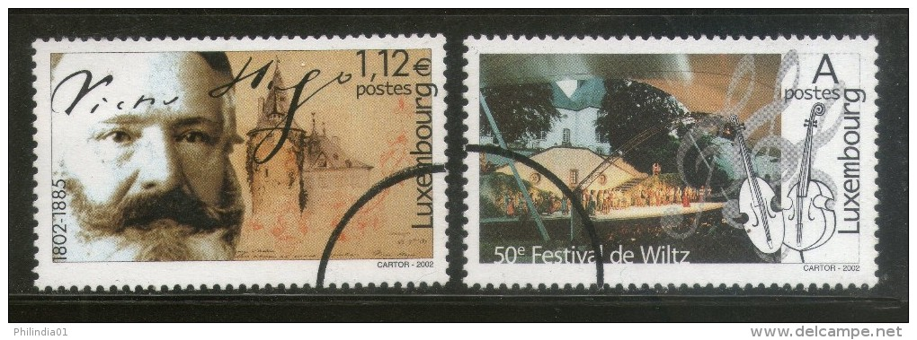 Luxembourg 2002 Cultural Event Festival Writer Music SPECIMEN Sc 1093-4 MNH # 12 - Musique