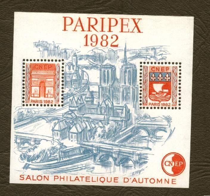 France . Bloc CNEP N° 3 - Paripex ( Type  I - Traits Sur Les Toits ) - - CNEP