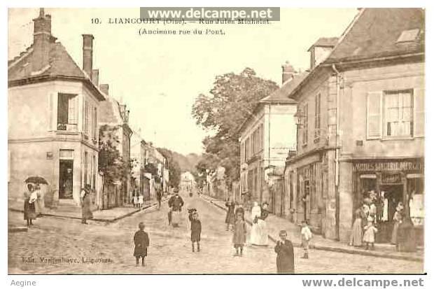 Liancourt-oise- Rue Jules Michelet-ancienne Rue Du Pont - Bon Etat Ref No 60179- - Liancourt