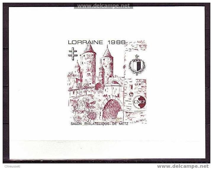 France Bloc CNEP N° 9  Lorraine - Epreuve De Luxe - CNEP