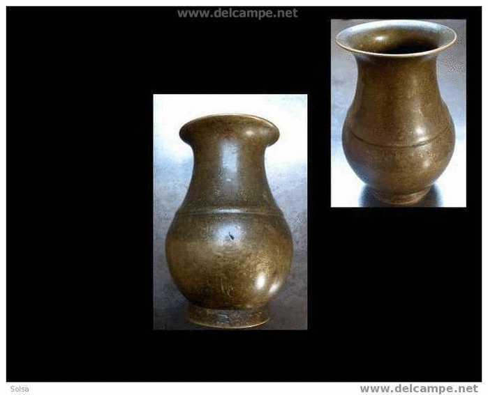 Ancien Crachoir à Bétel En Bronze Népal / Old Bronze Betelnut Spittoon - Tabac (objets Liés)