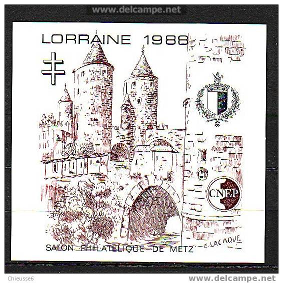 France Bloc CNEP Non Dentelé - N° 9 - Lorainne - CNEP