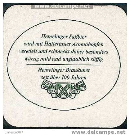 BEER MAT FROM GERMANY >HEMELINGER< NEW - - Sous-bocks