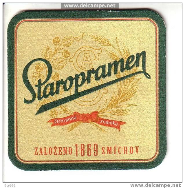 CZECH BEER / BIER COASTER - STAROPRAMEN - Beer Mats