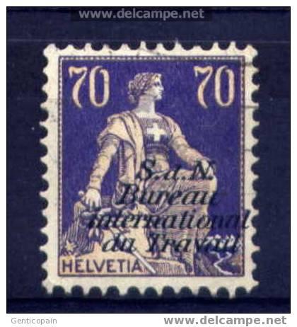 Suisse - Timbre Yvert  SERVICE  N° 71  (utilisé) Cote 25 Euros à 25 % De La Cote - Servizio