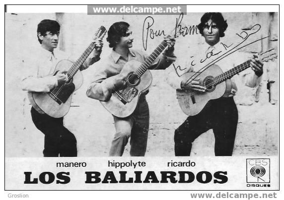 GROUPE LOS BALIARDOS SIGNATURE DE RICARDO - Autogramme & Autographen