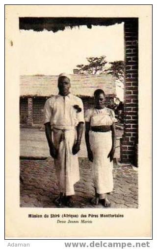 Mission Du SHIRE ( Afrique ) Des Pères Montfortains.Deux Jeunes Mariés - Cartes Postales