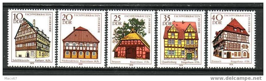 DDR 1882-6  HALF TIMBER BUILDINGS    ** - [6] Democratic Republic