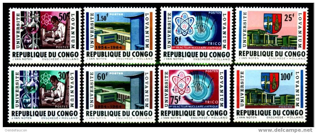 COB - 524/31** - Cote 5,50 € - République Du Congo (1960-64)