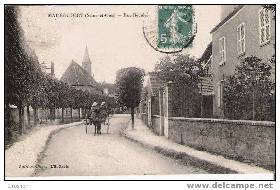 MAURECOURT SEINE ET OISE RUE BETHDER PETIT ATTELAGE ANE - Maurecourt