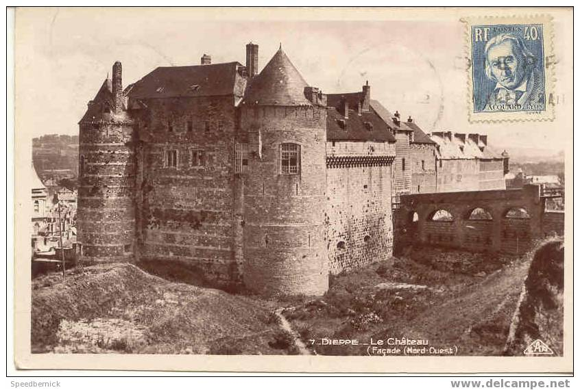 2553 Dieppe Le Chateau . N°7 CAP . Timbre : Jacquard Lyon 40c - Non Classés
