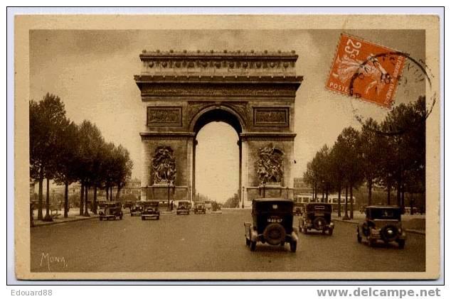 75  PARIS  L'ARC DE TRIOMPHE DE L'ETOILE  SERIE LES PETITS TABLEAUX DE PARIS - PKW
