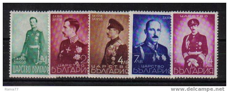 Xp267 - BULGARIA : SERIE N.  324/328  *** - 1909-45 Regno
