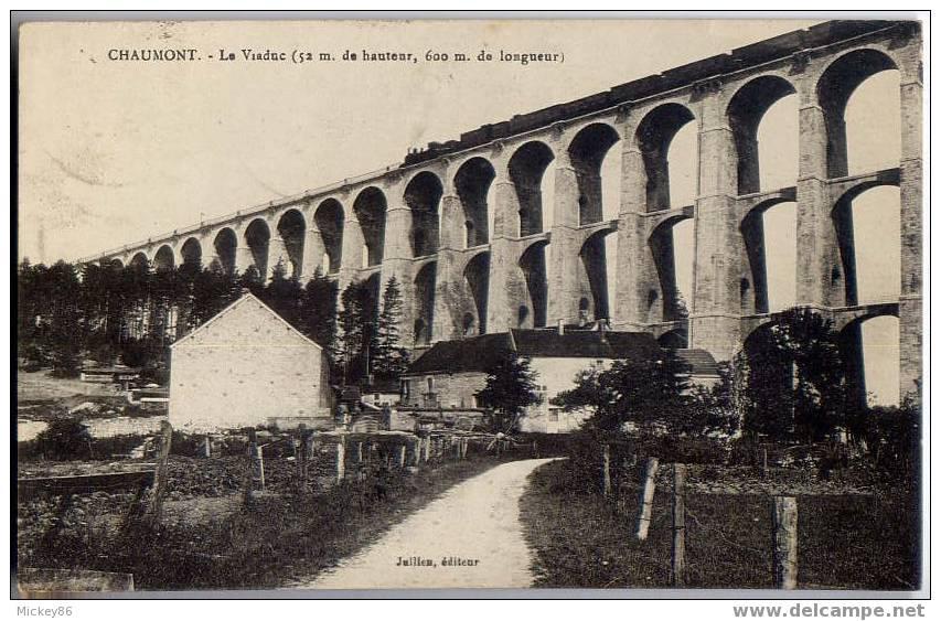 CHAUMONT--1931--Le Viaduc (avec Train) éd Juillem - Ouvrages D'Art