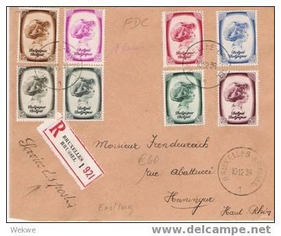 B060 / BELGIEN -  Einschreiben, FDC 1938 – Prinzessin-Ausgabe - FDC