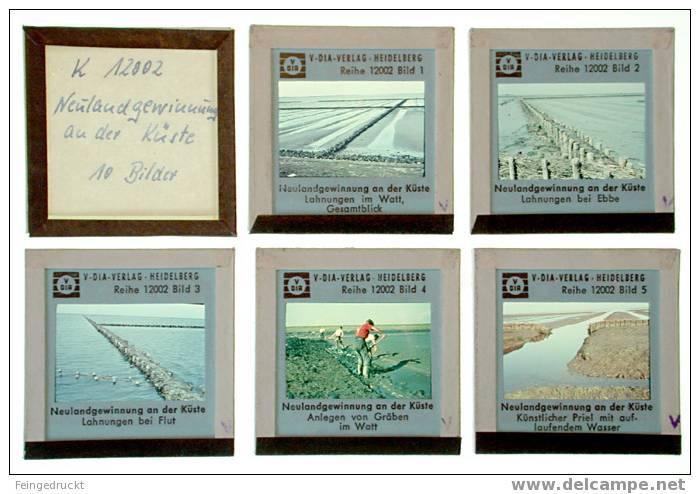 Dia 001 - Neulandgewinnung An Der Küste - 10 Glasdias - Glasdias