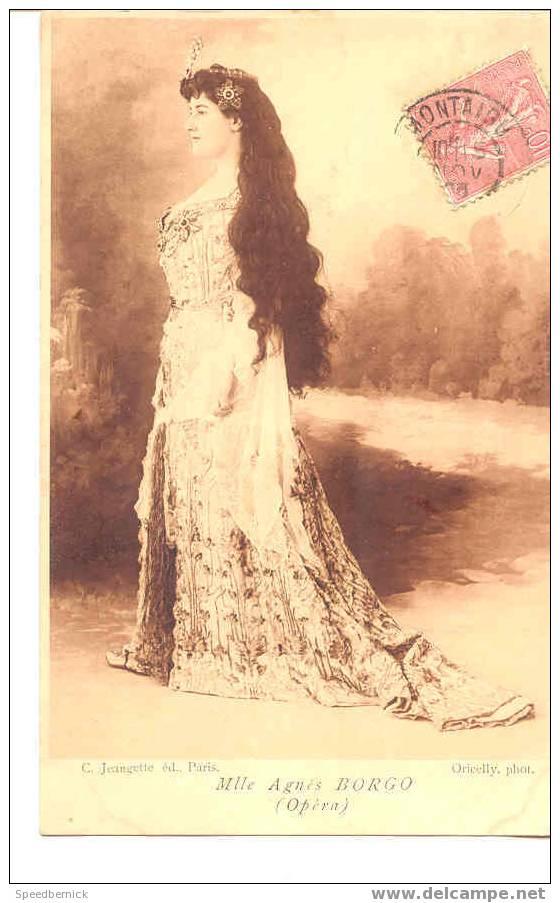 A106 Actrice Théâtre Mlle Agnes BORGO Opéra . Jeangette Paris Photo : Oricelly - Opéra