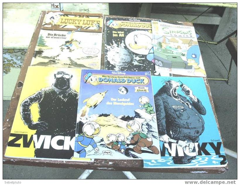 Simpsons Donald Duck Lucky Luke Zwicky - Livres Pour Enfants