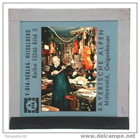"Dia 002 - ""Bayerische Alpen"" 12 Glasdias - Glasdias"