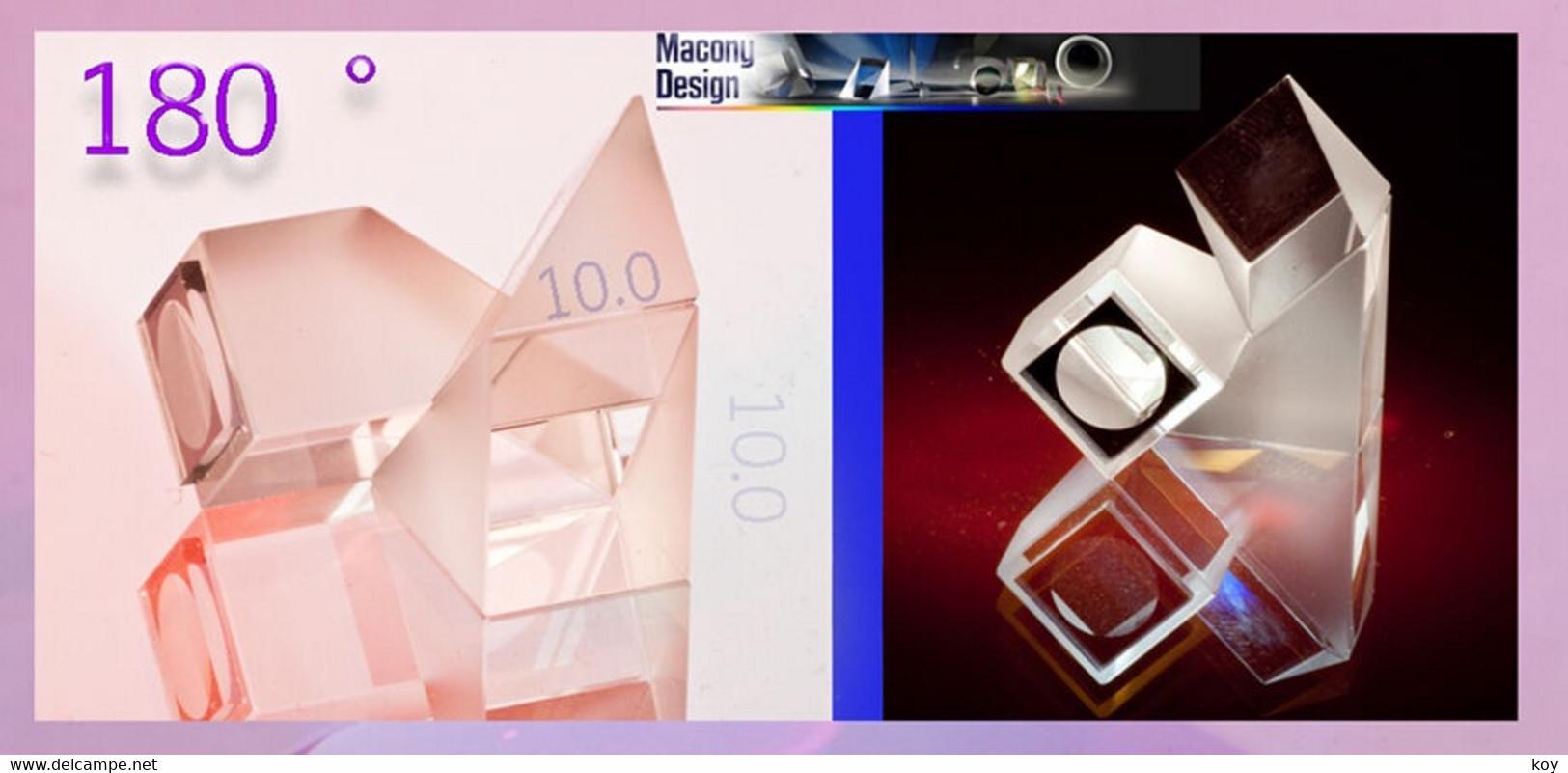 PRÄZISIONS - 180 °_UMKEHR - PRISMA   10  X 10  MM_ HQO = HIGH QUALITY OPTICS * * * HQUP10 - Prismas