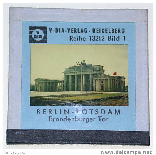 "Dia 019 - ""Berlin-Potsdam"" (Deutschland. Das Tiefland) - 9 Farbige Glasdias - Glasdias"