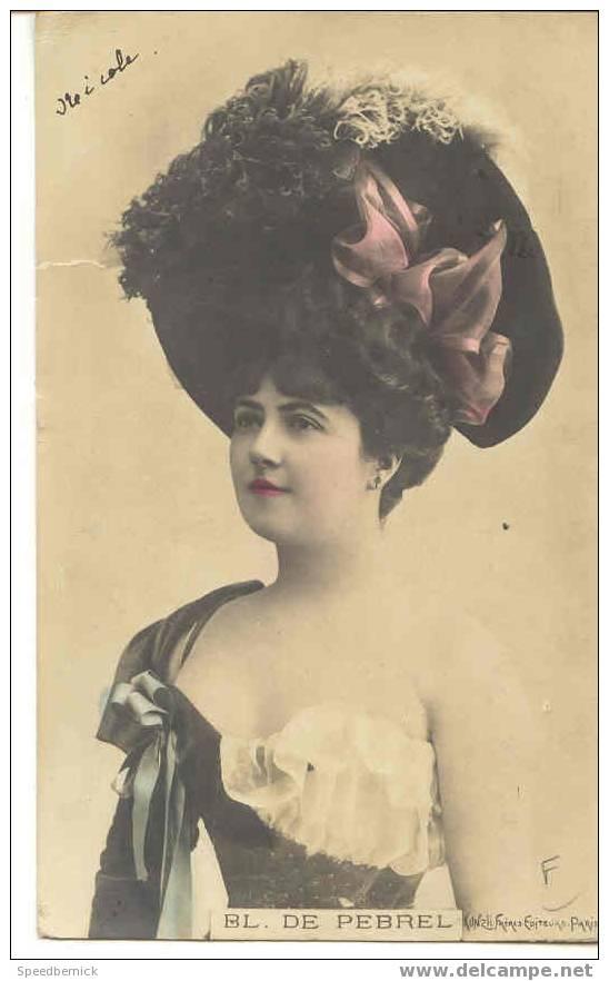 A424 Actrice Courtisane Théâtre  BL. DE PEBREL . Kunzli Frère Paris - Opéra