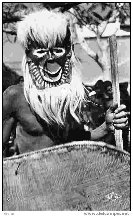 AFRIQUE. CONGO. Masque De Danse BATEKE. Carte Dentelée. - Congo Belge - Autres