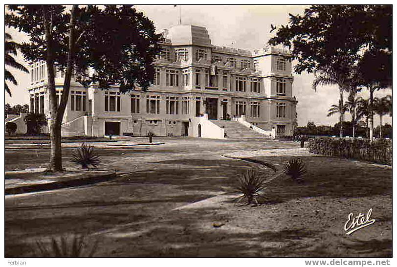 AFRIQUE. COTE D´IVOIRE. ABIDJAN. Le Palais Du Gouverneur. Carte Dentelée. - Côte-d'Ivoire