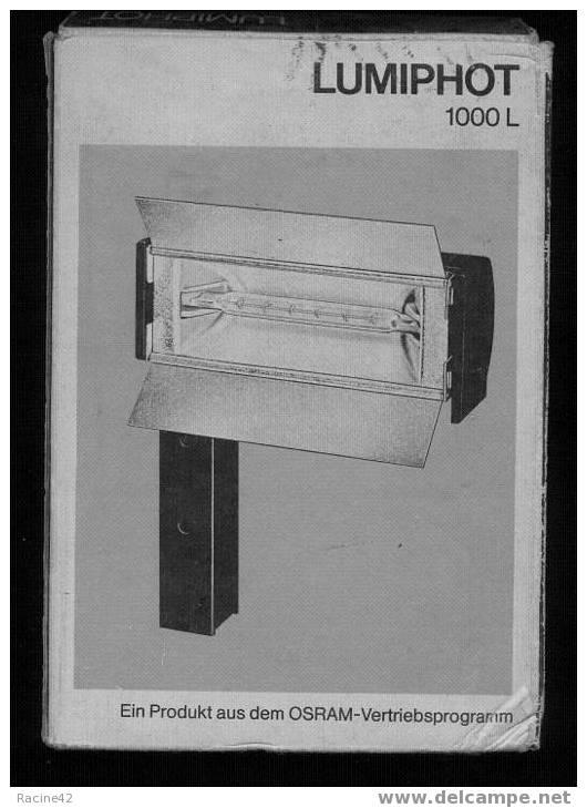 """LAMPE POUR CAMERA SUPER 8 HALOGENE 1000w- """"LUMIPHOT1000L"""" - [V9] - Projecteurs"""