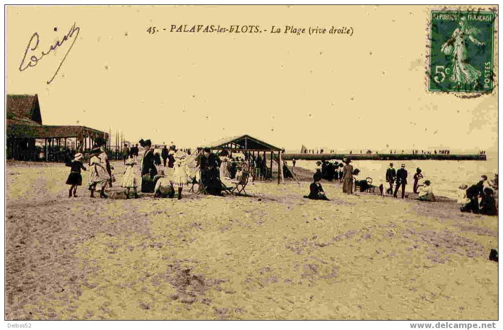 45.- Palavas-les-Flots - La Plage ( Rive Droite ) - Palavas Les Flots