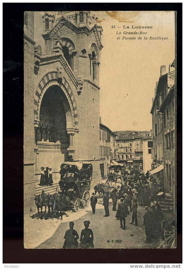 R 26 07 06 La Louvesc-la Grande Rue Et Facade De La Basilique,diligence - La Louvesc