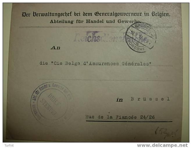 DIENSTBRIEF FUR HANDEL UND GEWERBE 1917 - WW I