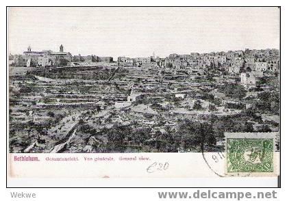 Pal009/ Palästina – Palestine – Bethlehem – Gesamtansicht 1905(Original View) - Palästina