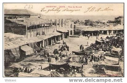 Pal017 / Palästina –Palestine – Jaffa – Marktplatz 1905, Belebt - Palästina