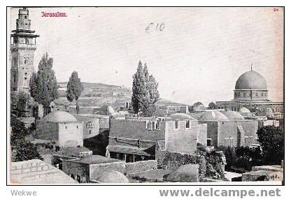 Pal020 / Palästina – Palestine – Jerusalem Mit Teilansicht, - Palästina
