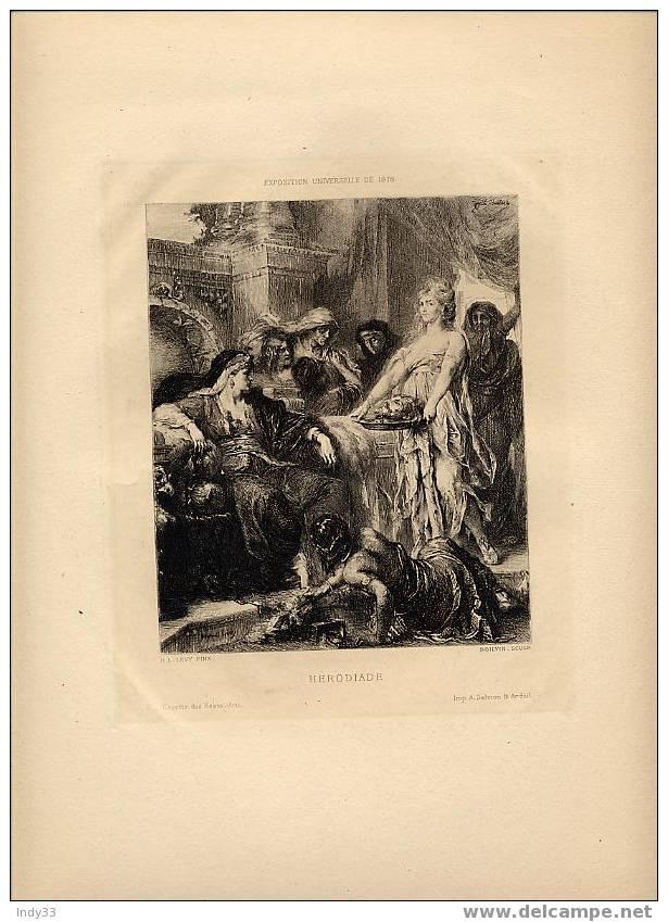 """HERODIADE"" . EAUFORTE DU XIXe S. - Religione & Esoterismo"
